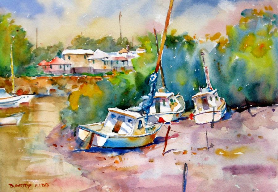 "Barry Kidd - ""Low Tide""  | 45cm x 65cm | Price:$395"