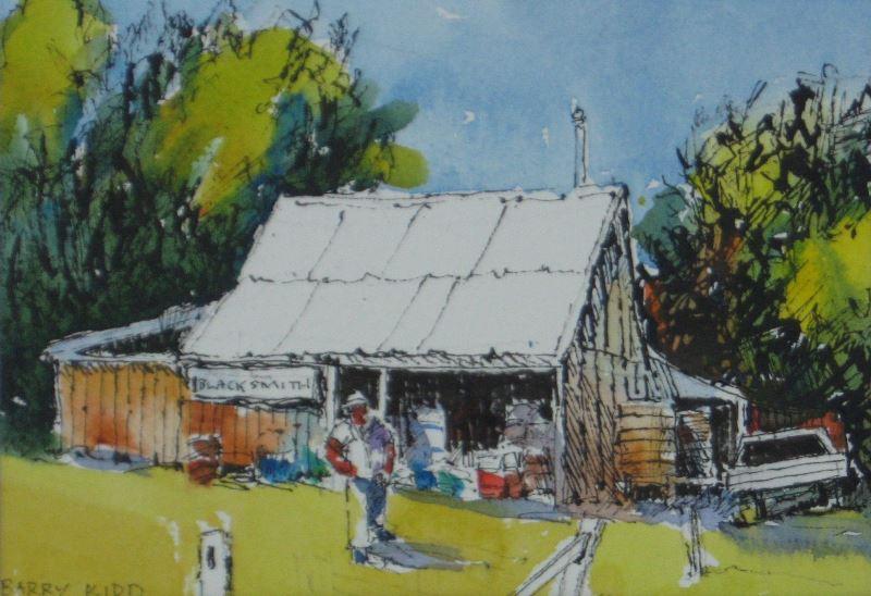 "Barry Kidd - ""Petrie Boatyard"" | 26cm x 33cm | Price:$220"