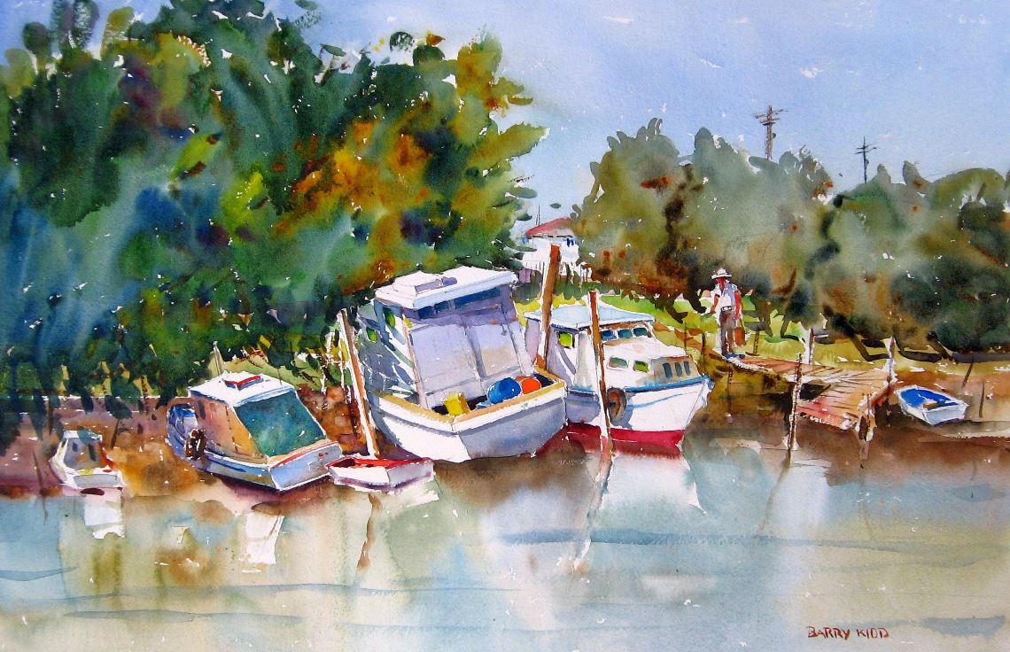 "Barry Kidd - ""Wynnum creek"" | 50cm x 70cm | Price:$495 [sold]"