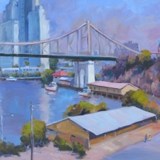 "Barry Kidd - ""Under the Bridge"" | 51cm x 61cm | Price: $525"